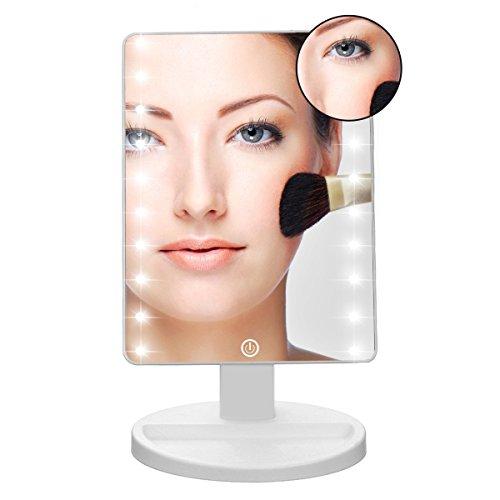 Makeup Light Mirror Charminer 16 LEDs Touch Light Illuminated Cosmetic Deskt