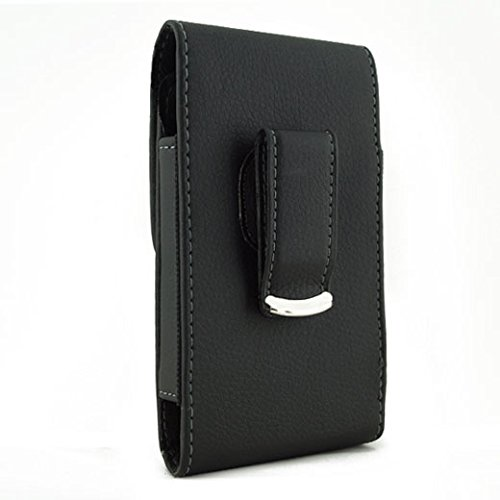 Black Vertical Leather Belt Clip Case Pouch Cover for Samsung GALAXY S BLAZE 4G