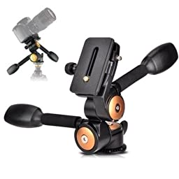 SUPON Pro Two Handle Hydraulic Damping Three-dimensional Head Q80/BK80 With Quick Release Plate for Tripod Monopod