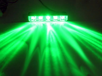 5 LED POD [Green] [Black Casing], 5LED Neon POD