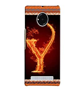Fuson 3D Printed Alphabet Y Designer back case cover for YU Yuphoria - D4216