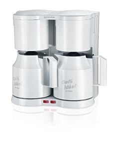 Severin KA 5825 Duo-Thermo-Kaffeeautomat, weiß / 2 x bis 8 Tassen / 2 x 800 W