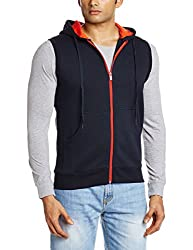 Proline Men's Cotton Sweatshirt (8907007203675_PC09912J_Medium_Navy)