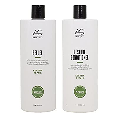 "AG Hair Keratin Repair Refuel Shampoo & Restore Conditioner 33.8oz Duo ""Set"""