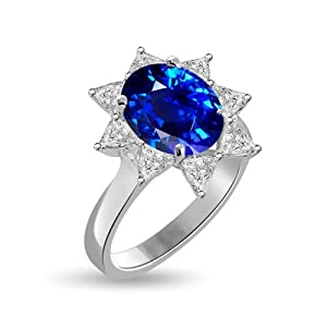 5.16 Ct Shenoa's Signature Sapphire & Diamond Cocktail Ring