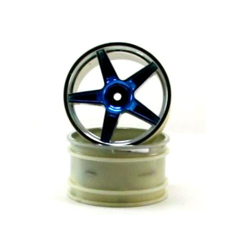 Redcat Racing Chrome Rear 5 Spoke Blue Anodized Rims (2 Piece)