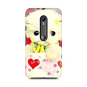 Motivatebox-Moto X Play cover-Cute dog in a coffee cup Polycarbonate 3D Hard case protective back cover. Premium Quality designer Printed 3D Matte finish hard case back cover.