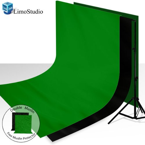 eebf45fcd15 ... 9  100% Cotton Green Chroma Key Muslin Backdrop + 6  x 9  100% Cotton Black  Muslin Backdrop Background + 6  x 9  Black and Green Muslin Protectors Photo  ...