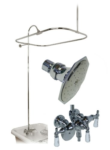 Good Quality Add On Shower Unit With Aluminum Curtain Rod