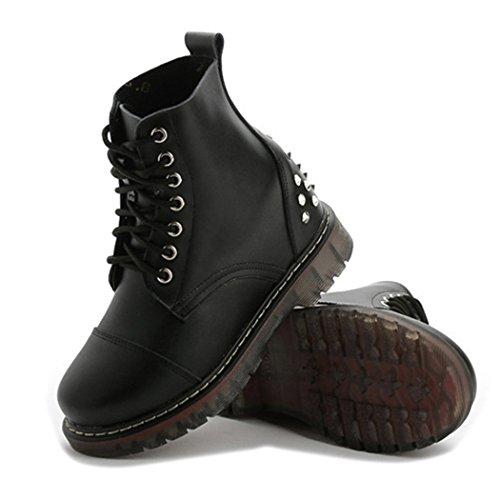 autumn-melody-stylish-women-martin-boots-personalized-rivet-lacing-short-boots-size-7-us-black