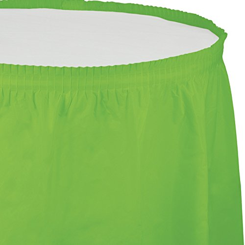 Creative Converting Plastic Table Skirt, 14-Feet, Fresh Lime