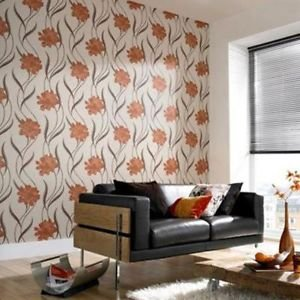 Superfresco Texture Poppy Wallpaper - Burnt Orang by New A-Brend