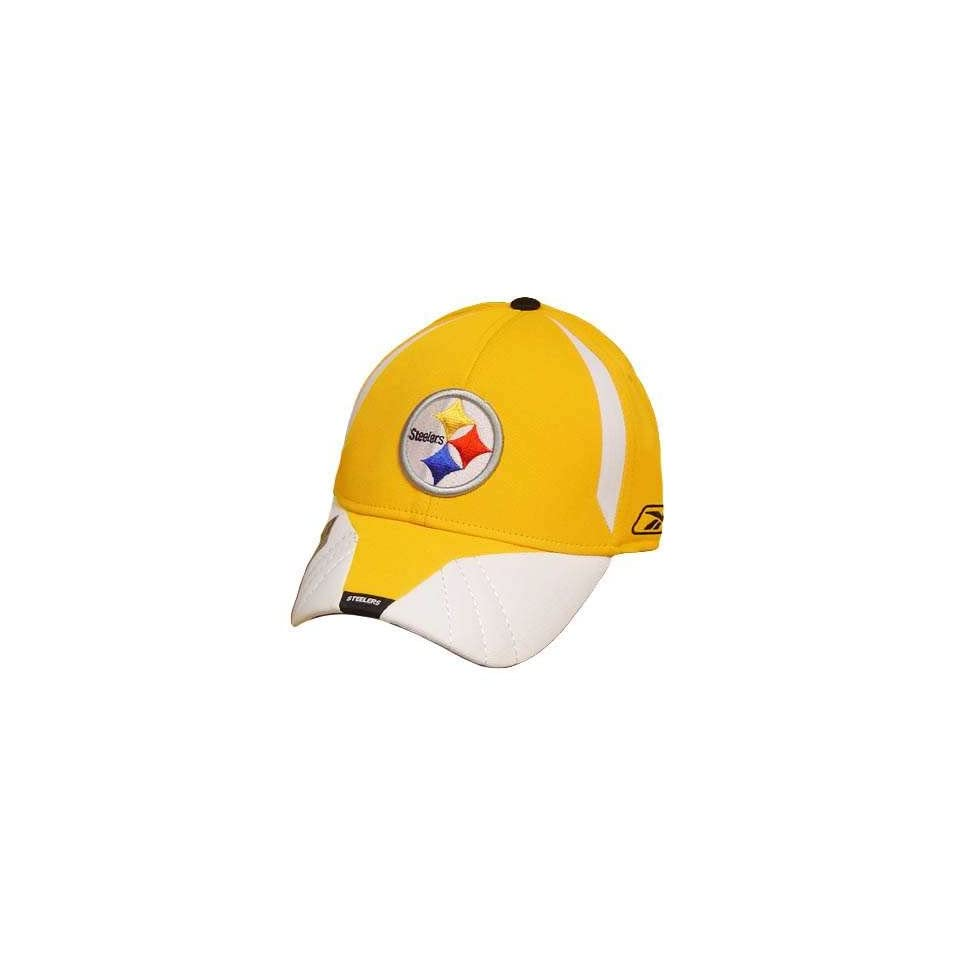 NFL PITTSBURGH STEELERS REEBOK YELLOW FLEX FIT HAT CAP