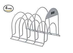 Rubbermaid Pan Organizer Rack, Titanium (Pack Of 4)