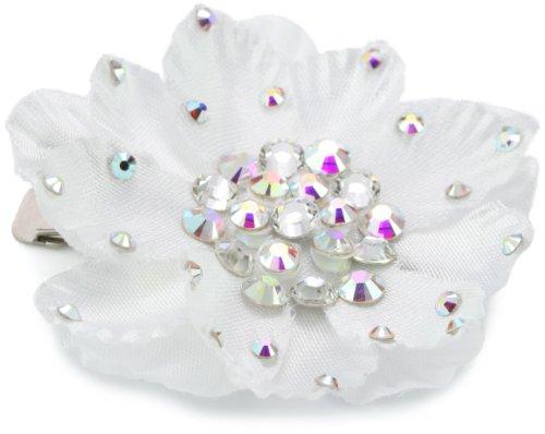 """TARINA TARANTINO """"Classic"""" White Small Silk Flower Anywhere Clip"""
