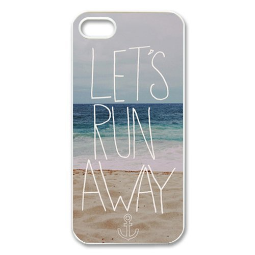 Facetious Let's Run Away Sandy Beach Hawaii Apple Iphone 5c Best Strong Case + Free Wristband Accessory