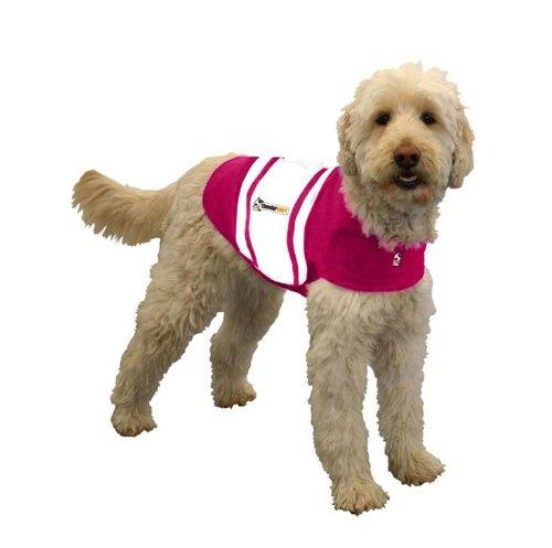 Thundershirt Dog Shirt, Large, Pink Rugby