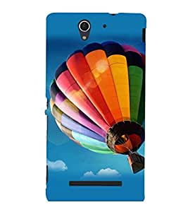 printtech Hot Air Balloon Colored Back Case Cover for Sony Xperia C3 Dual D2502::Sony Xperia C3 D2533