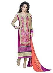 Adah Un-Stitched Faux Georgette  Un-Stitched Salwar Kameez -597-8002