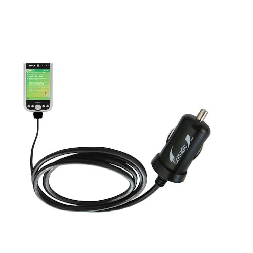 Gomadic Intelligent Compact Car / Auto Dc Charger Suitable For The Dell Axim X51 - 2A / 10W Power At Half The Size. Uses Gomadic Tipexchange Technology