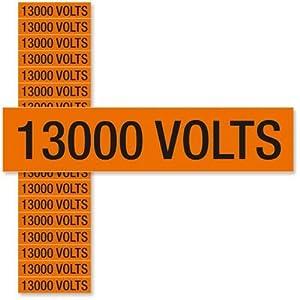 """13000 Volts, Small (1/2"""" x 2-1/4""""), 2.25"""" x 0.5"""""""