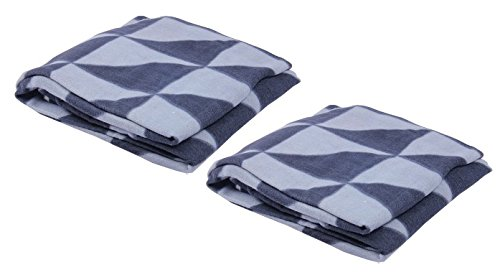 Sleepinns_Lotus Floral Printed Warm Fleece Single Blanket Set of 2 pc GSM 125, L W 155*220 cm-Grey  available at amazon for Rs.299
