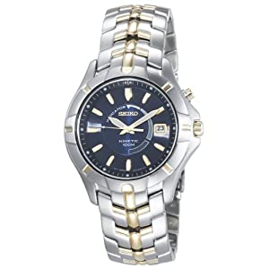 Click to buy Seiko Watches for Men: SKA402 Kinetic Two-Tone Watch from Amazon!