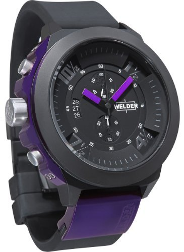 Welder K33 9303 - Reloj analógico unisex de cuarzo con correa de goma negra - sumergible a 100 metros