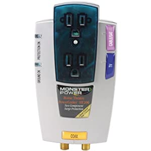 MONSTER POWER Product-MONSTER POWER MP HT 200 2-Outlet Home Theater PowerCenter HT 200 with Clean Power Stage 1 v2.0