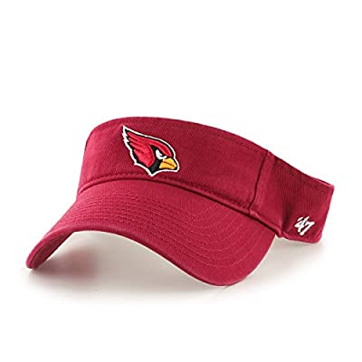 NFL Arizona Cardinals Men's Clean Up Cap Visor, One Size, Dark Red