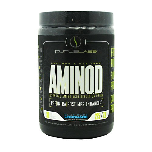 Purus Labs Aminod Energy-Drink, Blue Razz Lemonade, 225 Gram
