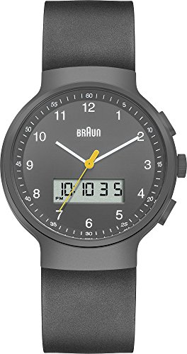 Braun BN0159GYGYG - Reloj de pulsera hombre, caucho, color negro