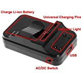Universal Mobile Cell Phone Battery Charger with battery jar