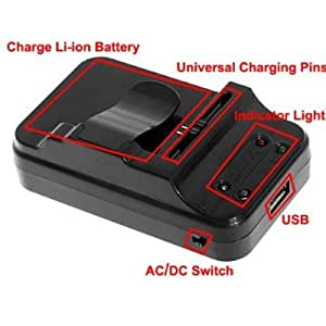 Amazon Com Universal Mobile Cell Phone Battery Charger