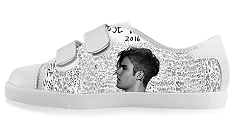 ZUXZ Custom Music Star Justin Bieber Boy's High-top Canvas Shoes Footwear Sneakers Flat Shoes (Justin Bieber Shoes For Boys compare prices)
