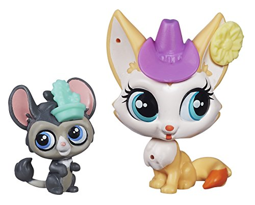 Littlest Pet Shop Roxy Reddington and Dusty West Figures