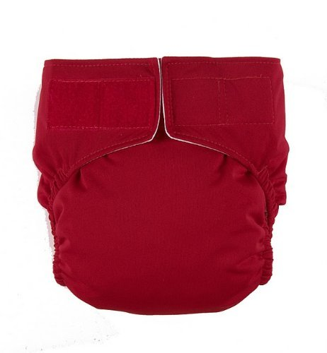 Crimson Velcro Easy Clean One Size Pocket Cloth Diaper by Mommy's Touch - 1