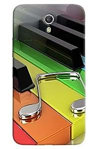 Omnam Colorful Piano Keys Printed Designer Back Cover Case For Lenovo Zuk Z1