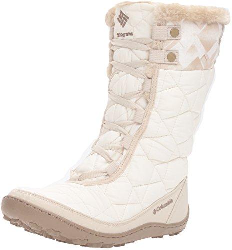 Columbia Women's Minx Mid II Omni-Heat Print Snow Boot, Sea Salt/Oxford Tan, 7 B US (Amazon Womens Snow Boots compare prices)