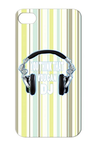 Dj Headphones Kids Hockey Biker Hip Hop Music Musician Holiday Birthday Women Motorcycle Sport Music Guitar Player Men Metal Muscle Car Teen Style Football Gift Cool White Tear-Resistant For Iphone 4S Protective Hard Case