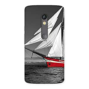 Delighted Vintage Ship Multicolor Back Case Cover for Moto X Play