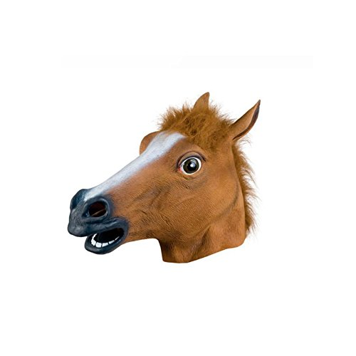 Surker Creepy Horse Mask Head Halloween / Christmas Costume Latex Rubber MK00005