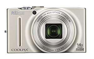 Nikon COOLPIX S8200 16.1 MP CMOS Digital Camera with 14x Optical Zoom NIKKOR ED Glass Lens and Full HD 1080p Video (Silver)