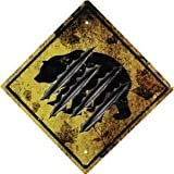River's Edge 1486 Bear Crossing Tin Sign