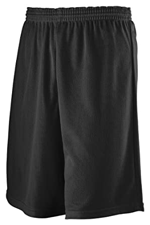 Buy Augusta Boys Long Length Mini Mesh League Short by Augusta