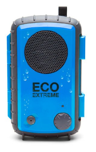 Eco Extreme 3.5Mm Aux Waterproof Portable Speaker Case (Blue)