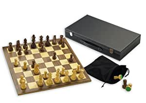 "Wooden Chess set with 3.5"" King"