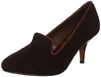 Shellys Womens Bernadine Suede Heel Brown Size 36