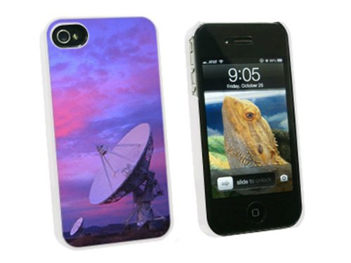 Graphics And More Very Large Array Vla Radar Telescope Dishes New Mexico At Sunset - Snap On Hard Protective Case For Apple Iphone 4 4S - White - Carrying Case - Non-Retail Packaging - White