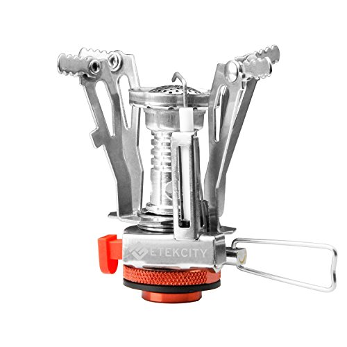 Etekcity Ultralight Portable Outdoor Backpacking Camping Stoves with Piezo Ignition (Orange) (Compact Camp Stove compare prices)